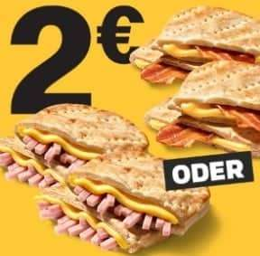 [McDonalds App] 2 McToast nach Wahl für 2€