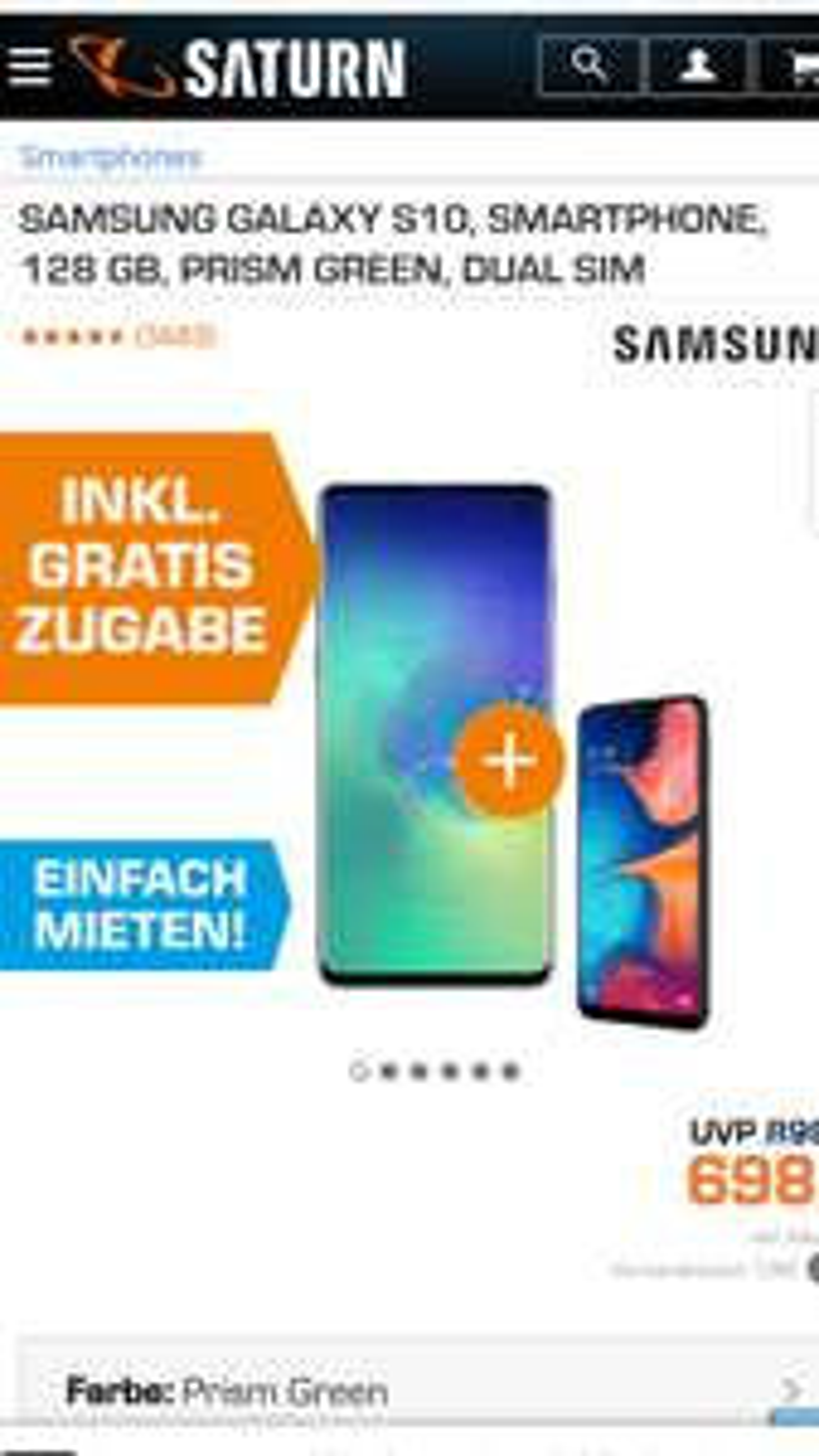 Samsung Galaxy S10 und Samsung Galaxy A20e