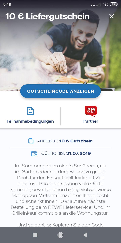 [Vattenfall my Highlights] Aktion Juli 10€  Gutschein bei Rewe für Bestandskunden und teilweise Altkunden