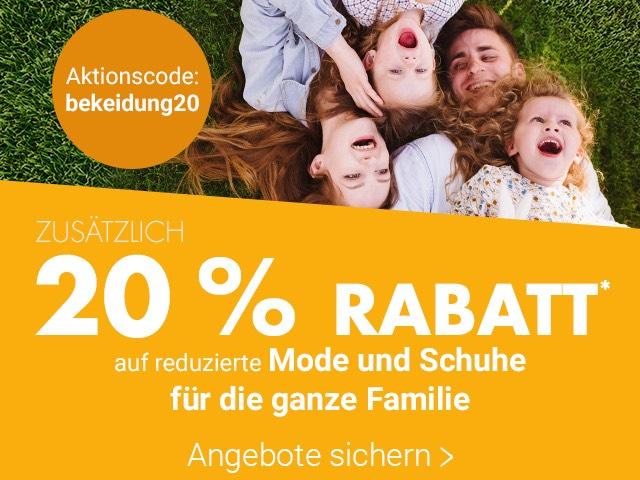 [Karstadt online] 20% Rabatt auf reduzierte Kleidung und Schuhe