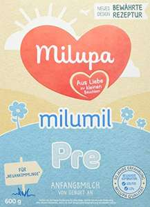 Milupa MILUMIL Pre 1 Anfangsmilch Folgemilch 2