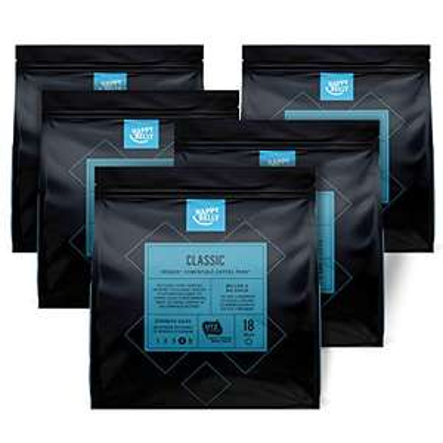 "Happy Belly Classic Kaffee-Pads für Senseo Kaffeemaschinen für 4,51€ inkl VSK mit Prime - 90 Kaffeepads Sorte ""Classic"""
