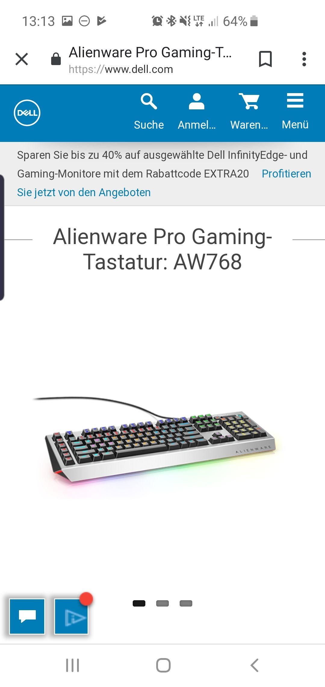 Dell Black Friday im Juli :) Alienware Aw 768 Tastatur