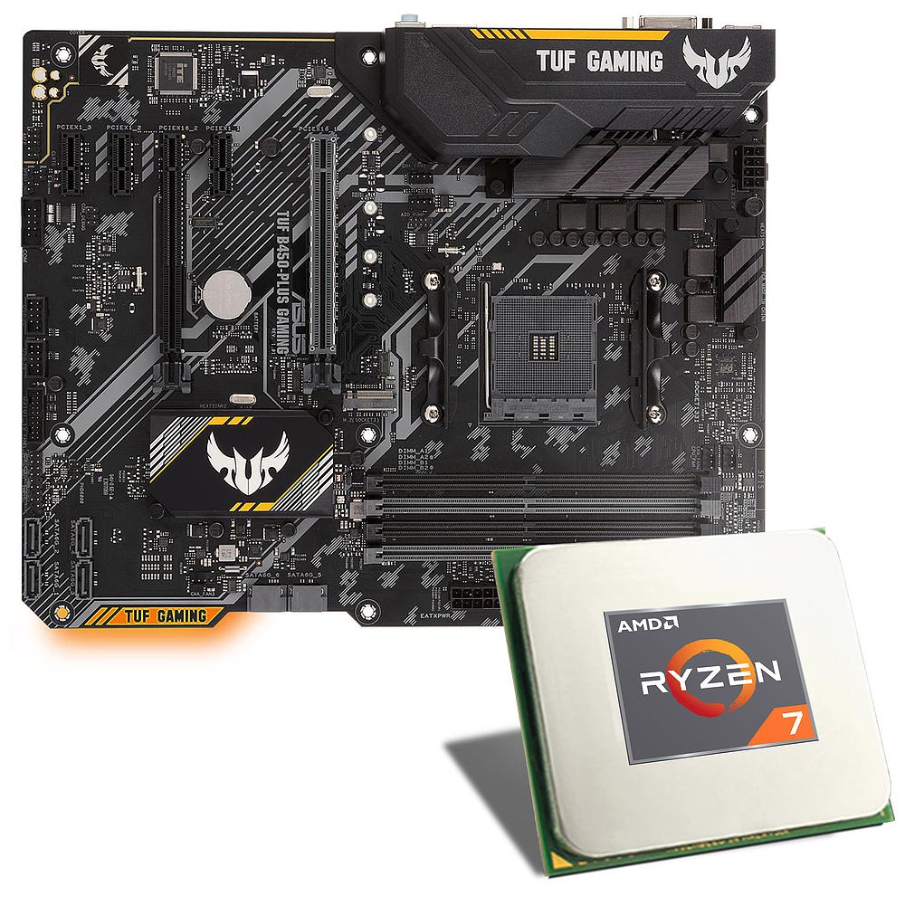 Aufrüst-Kit Ryzen 2700X + ASUS TUF B450 PLUS GAMING Board + Gammaxx C40 Kühler [anderes Board / Kühler möglich] Hinweis bzgl. ASUS ROG WaKü!