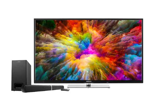 "TV Medion Life X15504 (55"", UHD, Edge, 60Hz, 350 cd/m², Dolby Vision, Smart TV, DTS) + Soundbar & Subwoofer E64126 (2.1, 70W, HDMI, BT)"