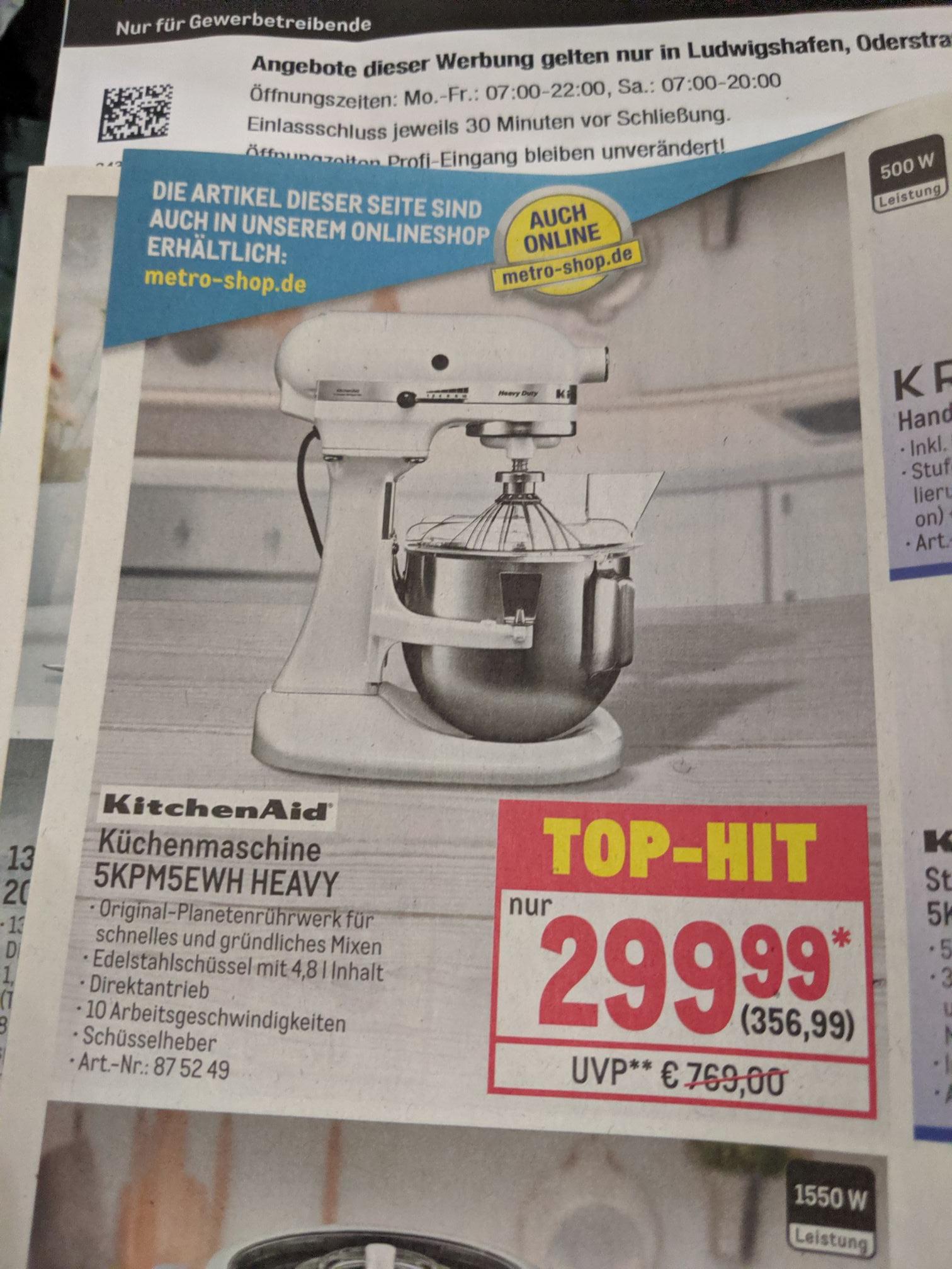 KitchenAid 5KPM5EWH HEAVY BEI Metro