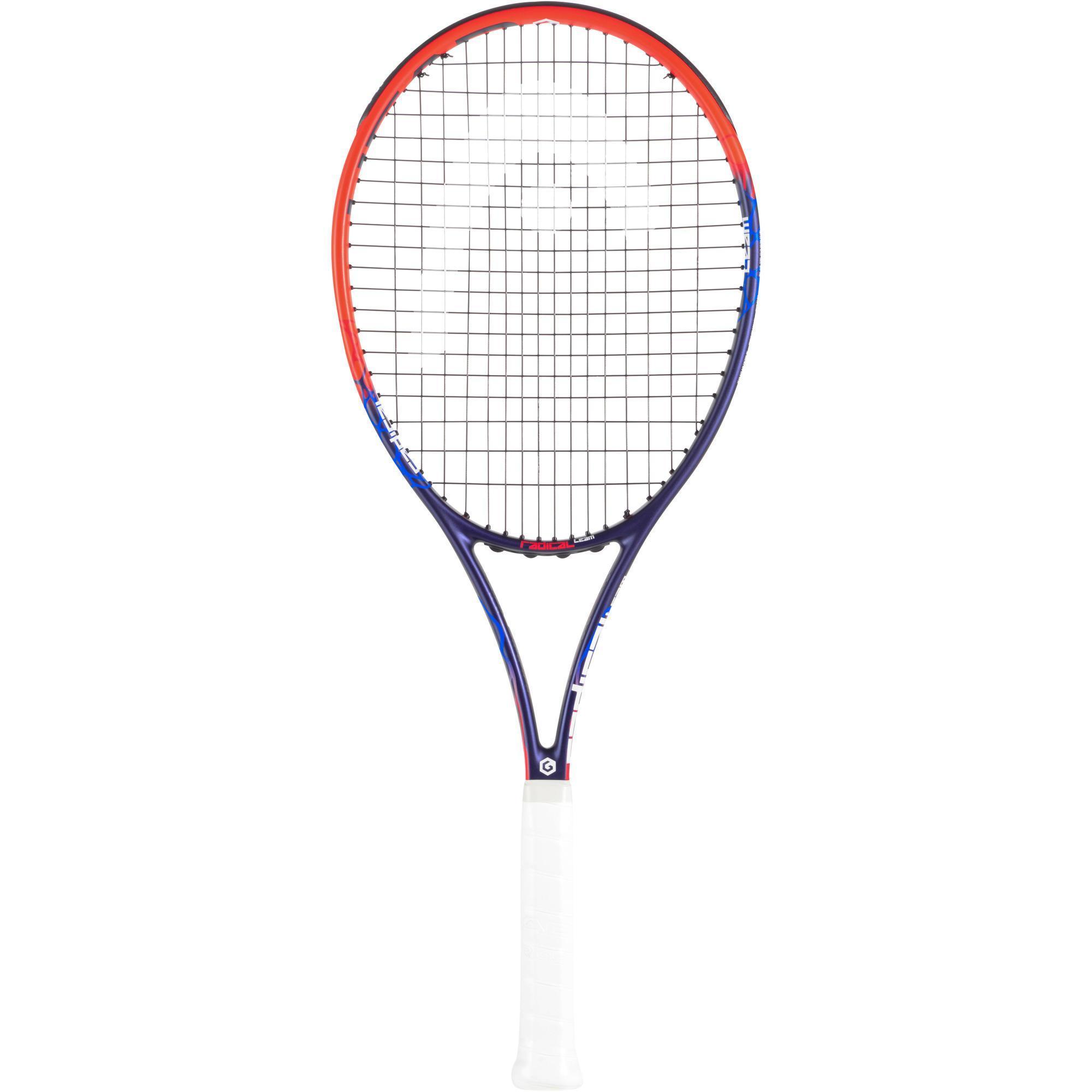 Tennisschläger Radical Team Erwachsene Besaitet - Orange, Grau
