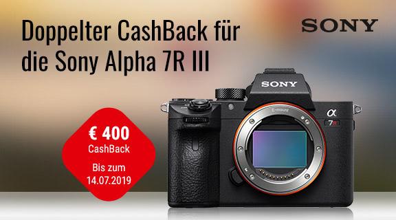 Sony A7R III für effektiv 2699 € nach 400 € Cashback (Aktion bis zum 27.07.2019)