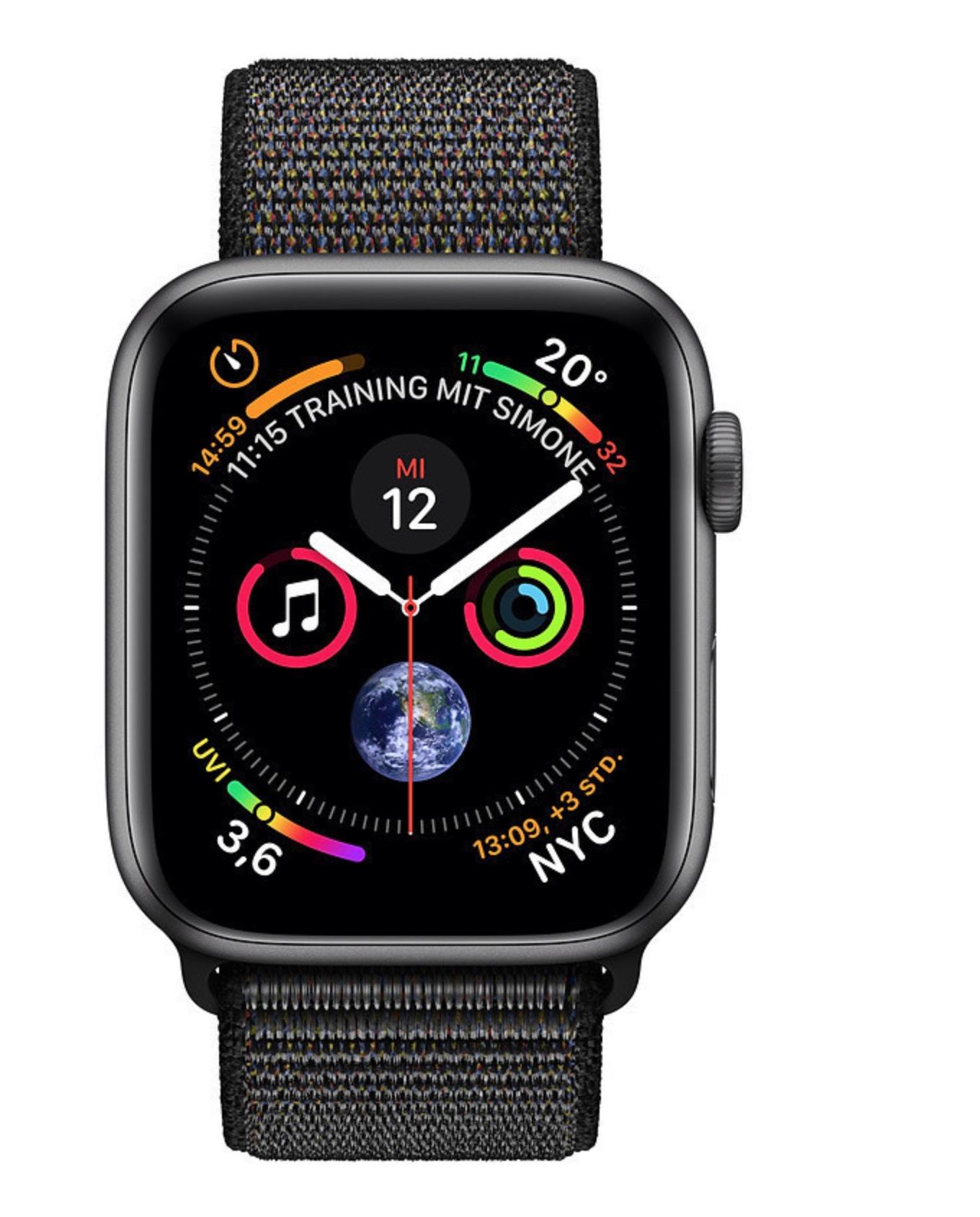 (Schweiz) Apple Watch Series 4 Set mit Sport Loop (44mm, Aluminium, Silikon) für 358 Euro