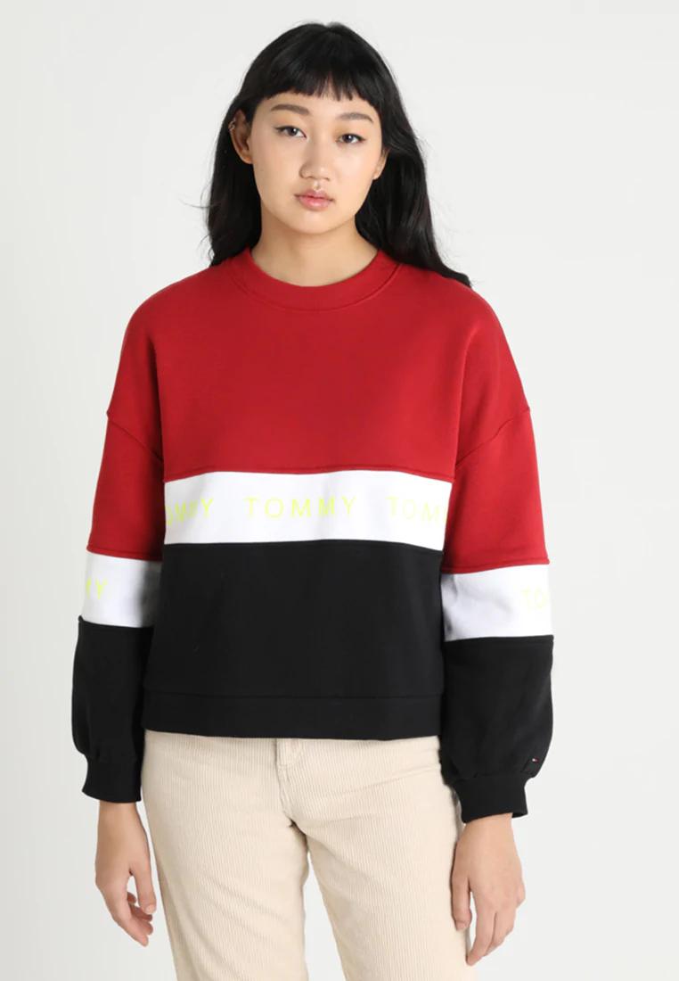 TOMMY JEANS Damen Colorblock Sweatshirt / Größen M - XL