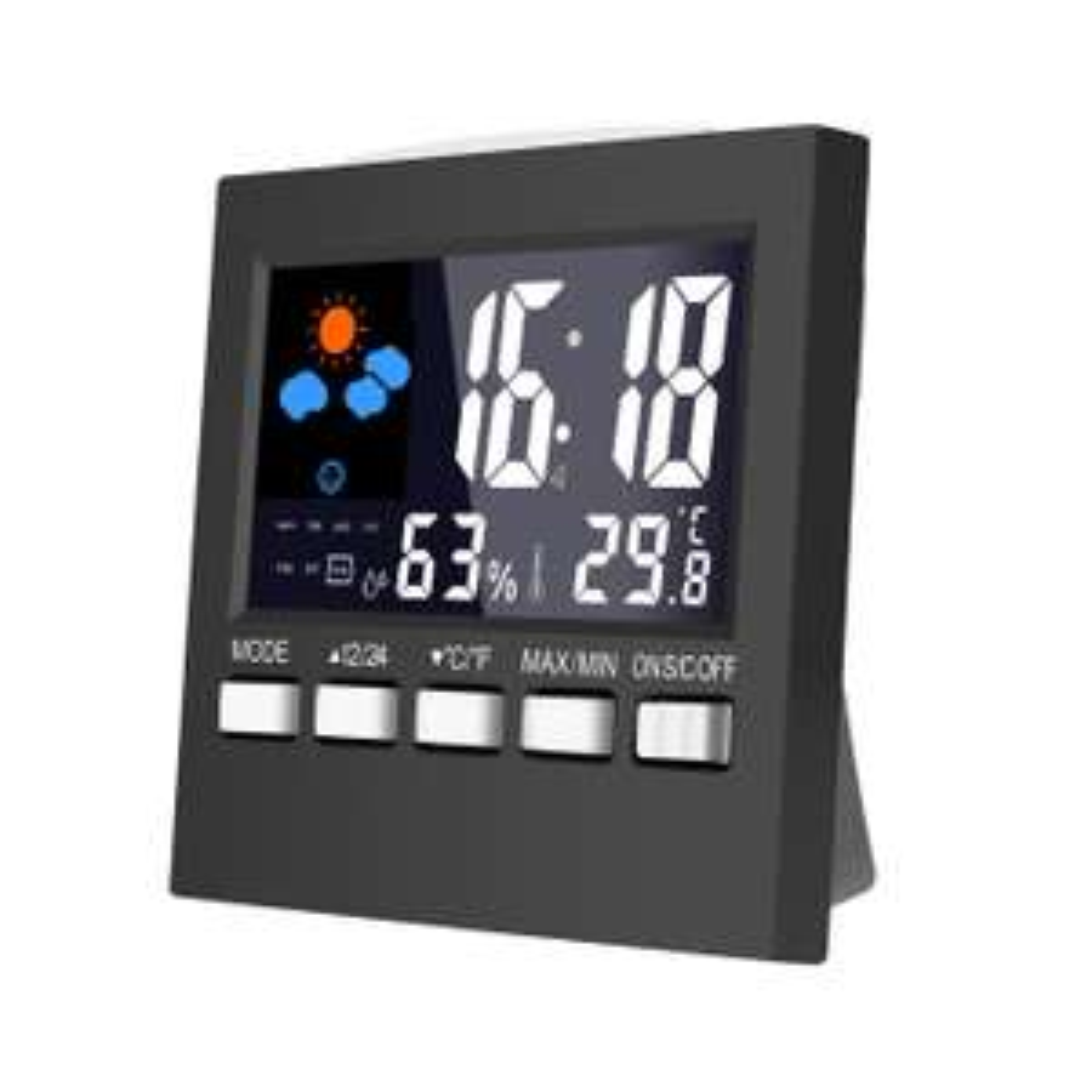 Digitale Wetterstation, Uhr, Wecker, Loskii DC-001