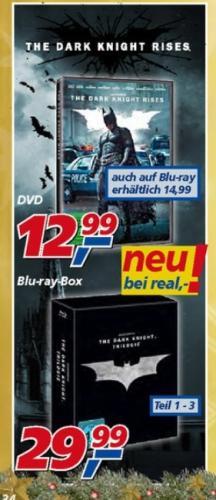 The Dark Knight Trilogy Blu-ray Box für 29,99€ bei REAL