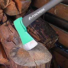 Fundwerk Spaltaxt, mit 90 cm langer Stiellänge und antihaftbeschichteter Klinge für 9,18€ (Amazon Prime)