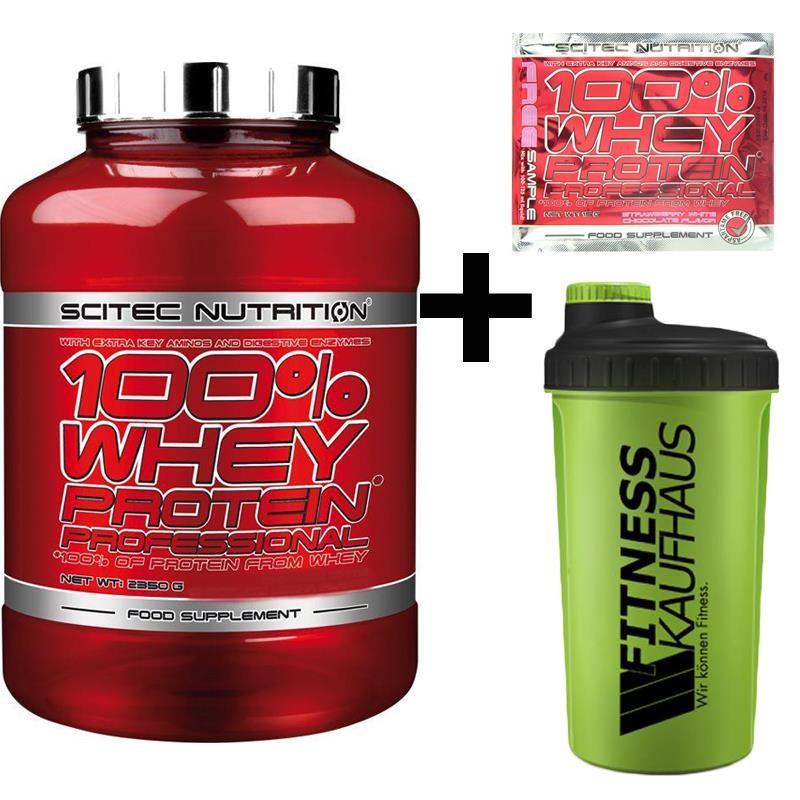 2350g Scitec Nutrition 100% Whey Protein Professional (12 Geschmacksrichtungen) + Shaker + Probe + Füllartikel für 25,95€ dank Masterpass
