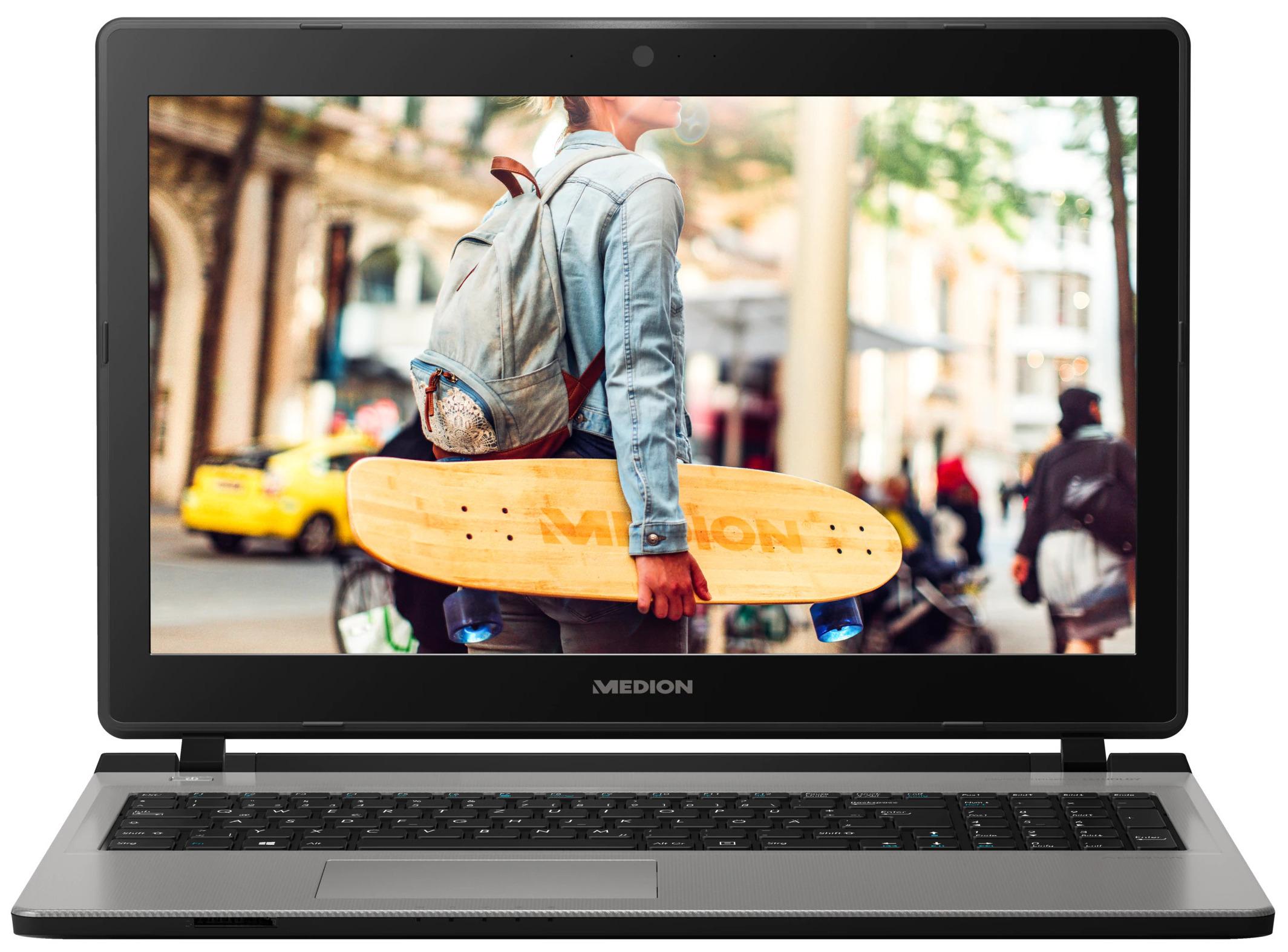 """Medion Akoya E6429 15,6"""" Notebook (FHD, Pentium 4405U, 8GB RAM, 1TB HDD, SSD nachrüstbar, 2x USB 3.0, Gb Ethernet, WLANac, Win 10 Home)"""