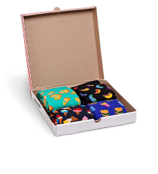 40% Rabatt + gratis Versand bei Happy Socks, z.B. Junkfood Gift Box mit 4 Paar Socken