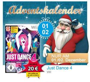 Müller-Adventskalender: Just Dance 4 (Wii) für 20€