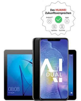Huawei Mate20 Pro + Mediapad T3 10.0 im O2 Free M Boost (Allnet / 20 GB LTE) für mtl. 16,99€ + 49€ Zz. + 39,99€ AP + 4,95 VK + (Shoop mgl.?)