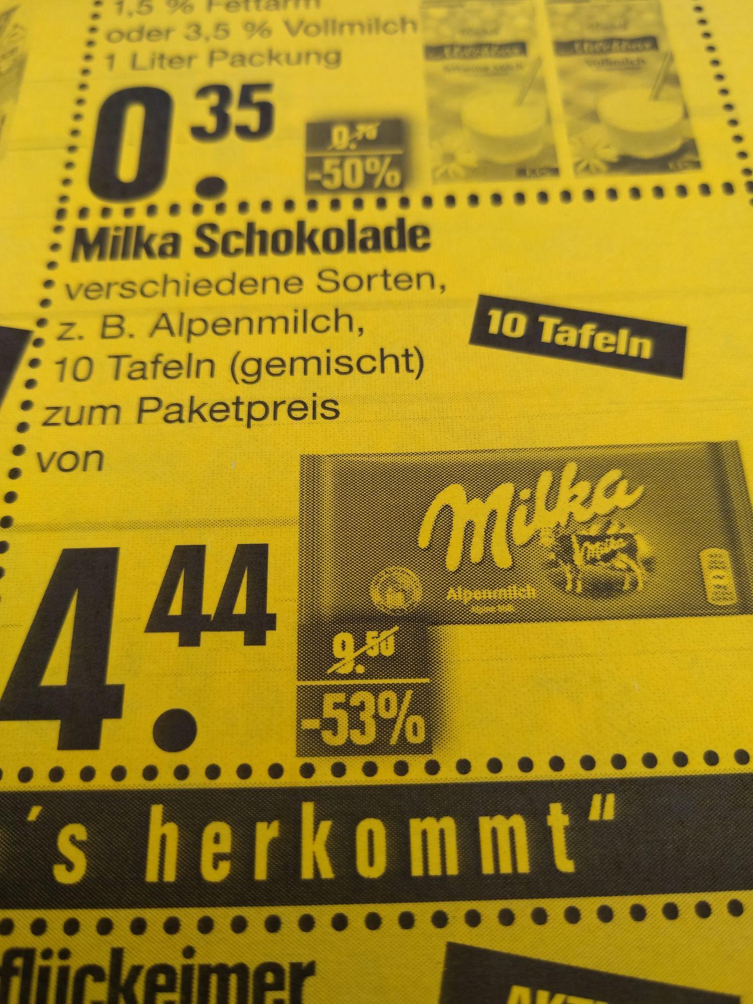 [Lokal] Wittighausen EDEKA Landwehr - 10 Tafeln Milka Schokolade