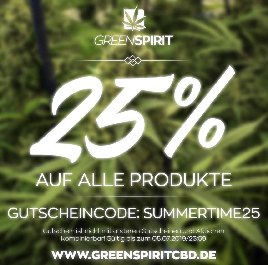 25% auf alle CBD Produkte