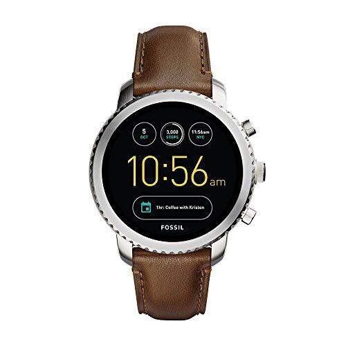 Fossil Q Explorist Smartwatch (3. Gen, Leder, dunkelbraun)