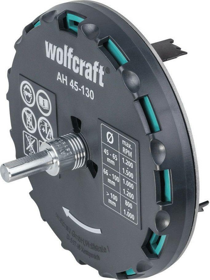 Wolfcraft 5978000 AH 45-130-Lochsäge verstellbar, schwarz