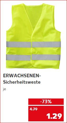 Sicherheitsweste für Erwachsene und Sicherheitsweste für Kinder jeweils für 1,29 Euro [ Kaufland ]