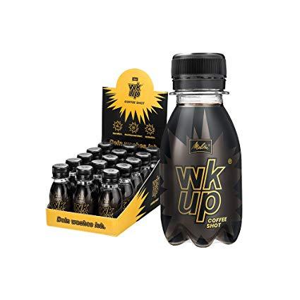 Melitta wkup Coffee Shot, hochdosierter Wachmacher, Energy-Drink auf Kaffee-Basis mit 100% natürlichem Koffein, 15x90ml