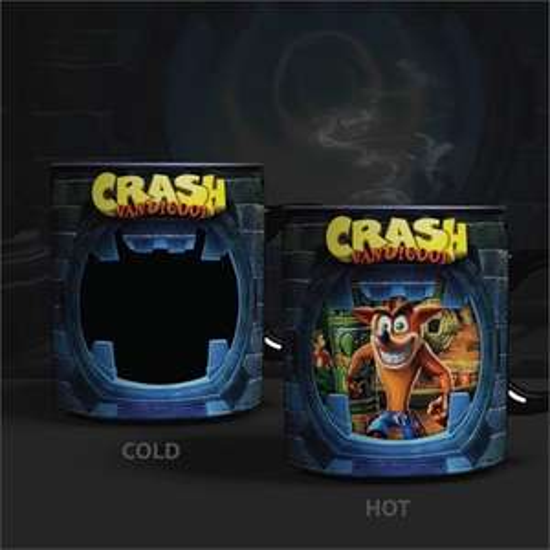 Crash Bandicoot - Thermo-Effekt Tasse & Pixel Pals - Mortal Kombat Raiden & Scorpion & Sub-Zero (Leuchtfiguren) für je 5€ (GameStop)