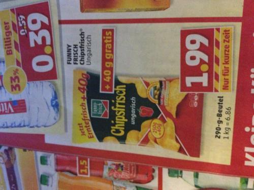 funny-frisch Chipsfrisch Ungarisch 1,99€ / 290g Tüte @penny