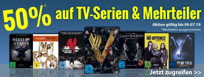 Verleihshop: 50% auf Serien und Mehrteiler