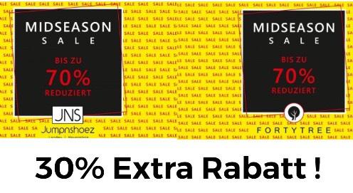 [Fortytree & Jumpnshoez] 30% Extra Rabatt auf den Sale z.B Nike Air Max 270 Flyknit für 87,87€ inkl. Versand!