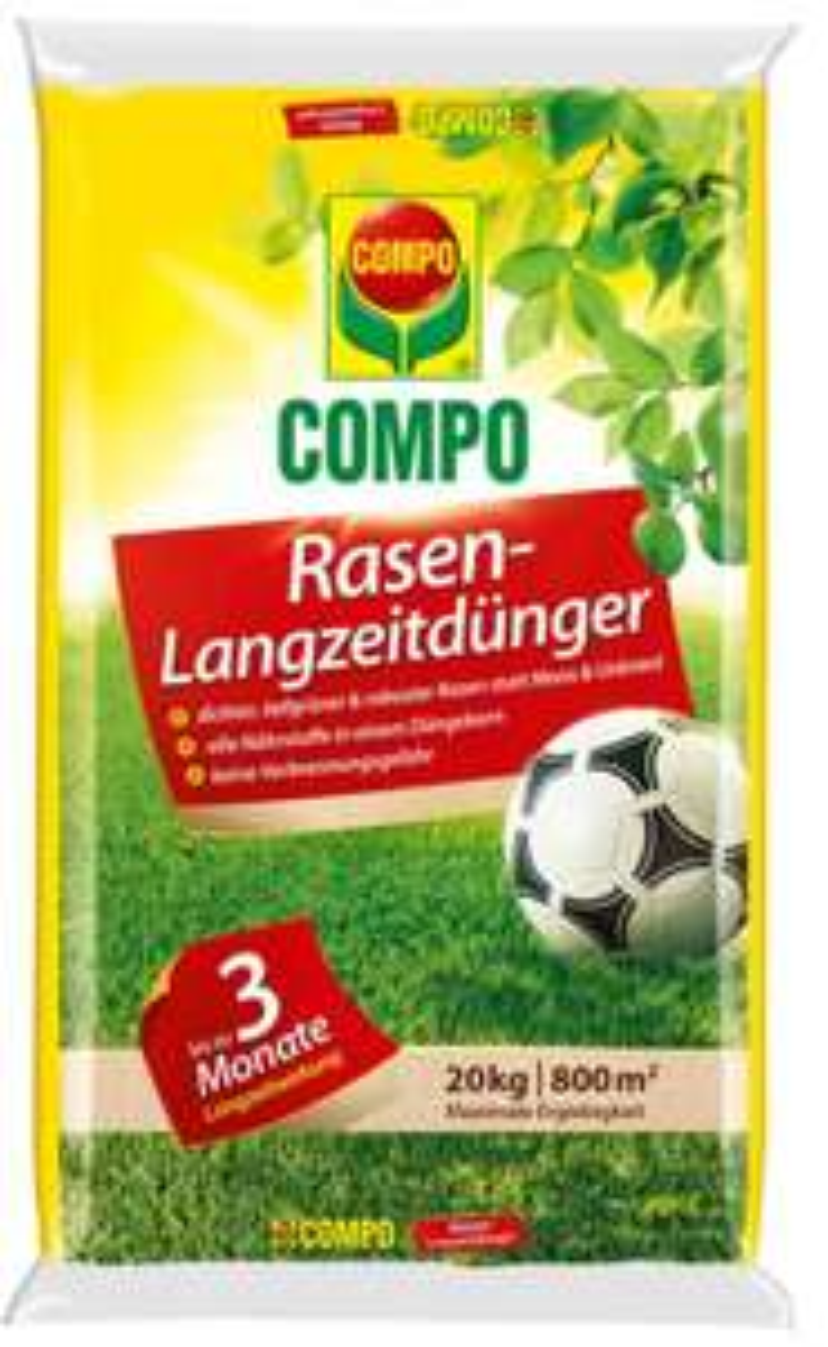[Rakuten Masterpass] COMPO Rasendünger mit Langzeitwirkung 20 kg für 750 m²