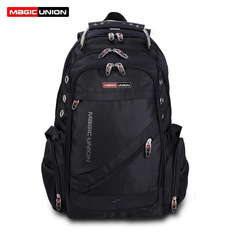 MAGIC UNION Marke Design Reisetasche Mann Schweizer Rucksack Polyester Taschen Wasserdichte Anti Diebstahl Rucksack Laptop Rucksäcke Männer