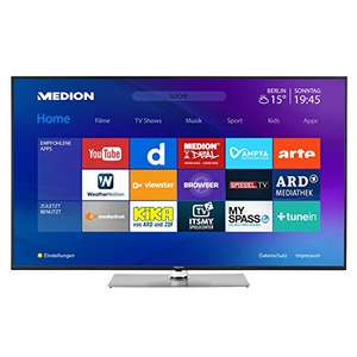 MEDION X16503 163,9 cm (65 Zoll) UHD Fernseher (Smart-TV, 4K UHD, Dolby Vision HDR, Netflix, Prime Video, WLAN, DTS Sound, PVR, BT)