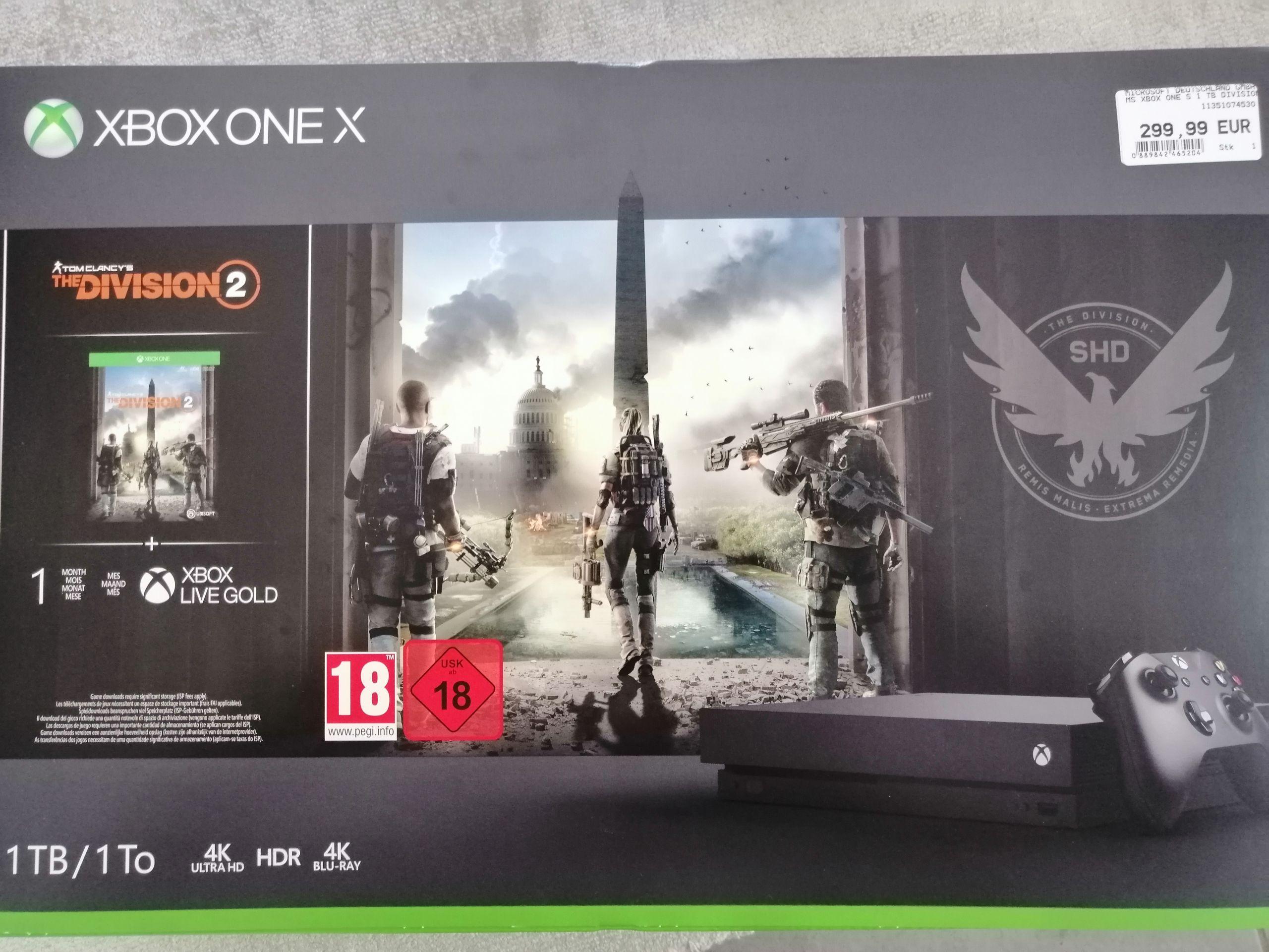 Xbox One X 1TB The Division 2 Bundle [Lokal Expert Fürstenfeldbruck]