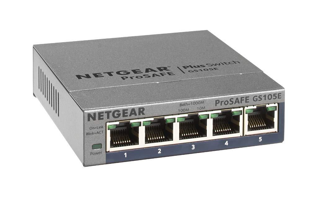 NBB + Amazon Prime: NETGEAR GS105E Gigabit 5-Port ProSafe Plus Smart Switch 1000 Mbit/s, managed, VLAN...