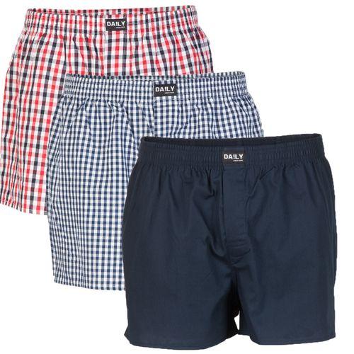 3er Pack DA!LY Underwear Herren Boxershorts, Größe S-5XL (100% Baumwolle )