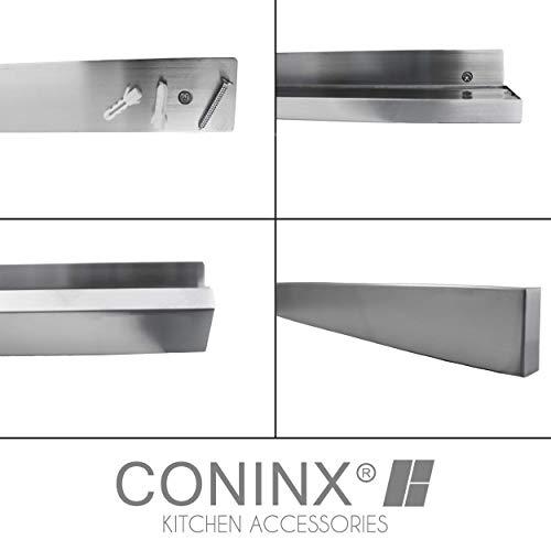Edelstahl Messerhalter magnetisch/ Magnetleiste Coninx zur Wandmontage | 40 cm |