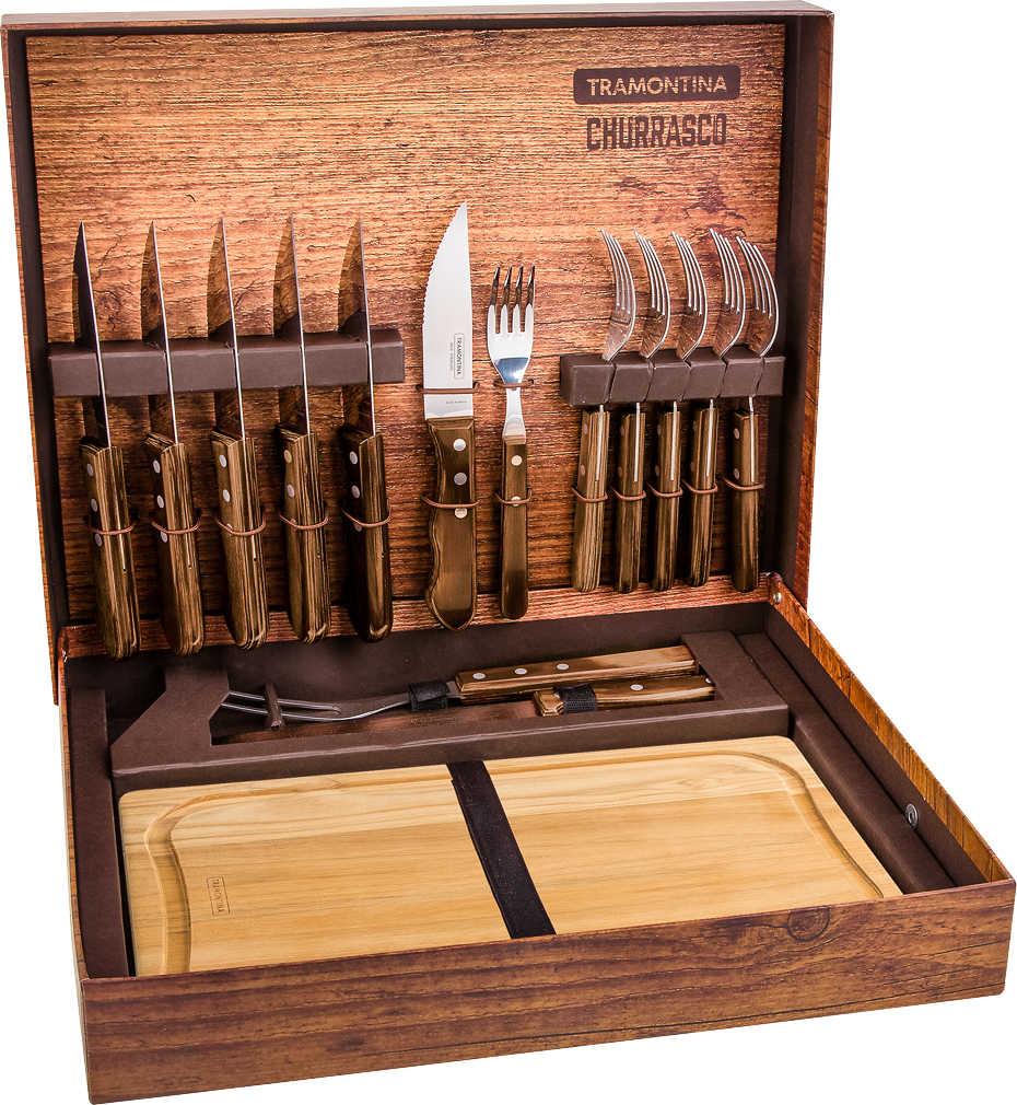 TRAMONTINA CHURRASCO BBQ-Koffer, 16 teilg für 79,99 Euro [Kaufland]