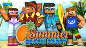 Minecraft Bedrock Edition - Summer Beach Party Skin Pack kostenlos für alle Plattformen