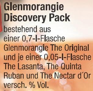 Glenmorangie Discovery Pack in der Metro