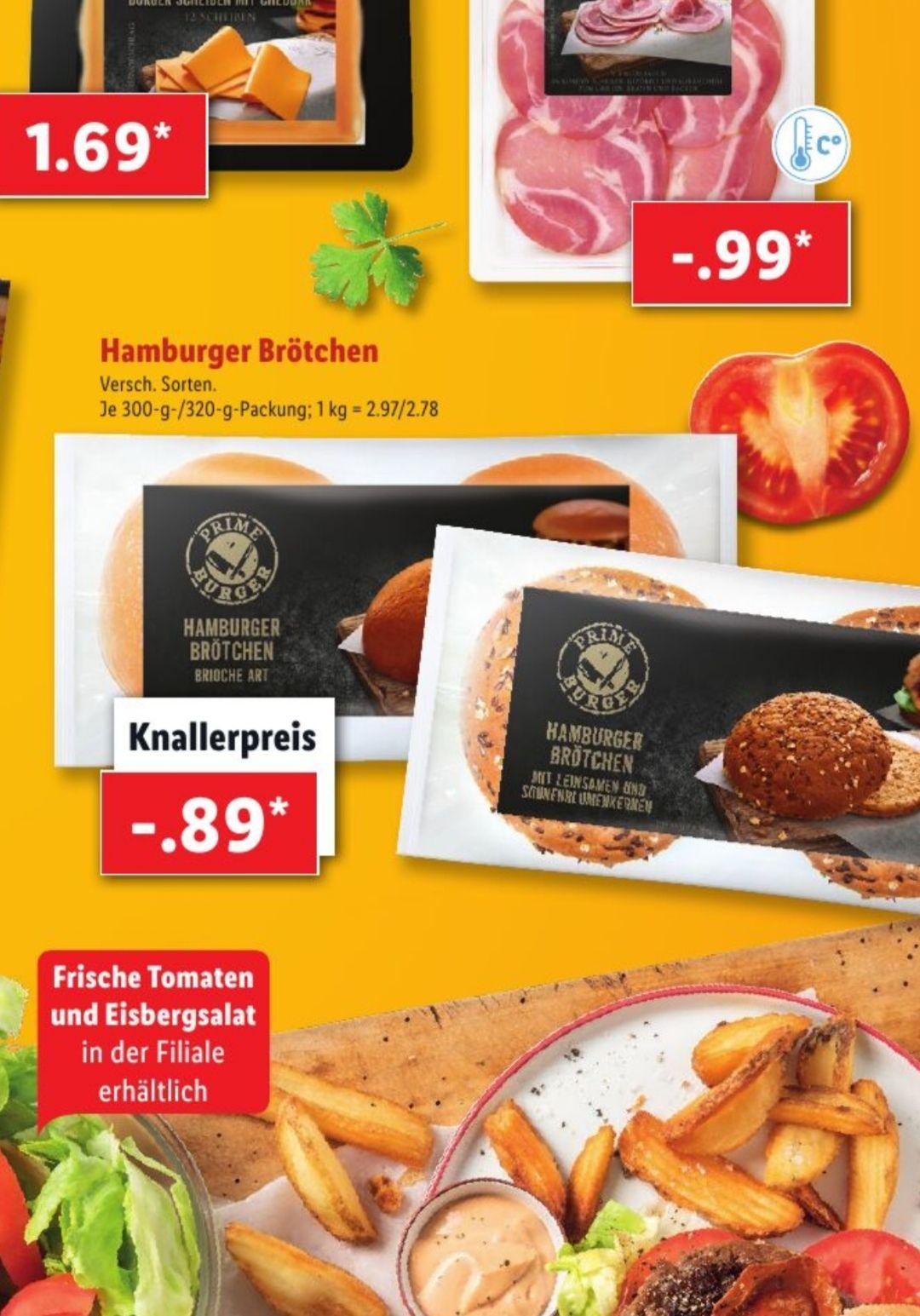 [LIDL] Burgerbrötchen Brioche oder Körner (4 Stück, 300/320g)für effektiv 0,39€ bzw. 0,49€ durch marktguru Cashback