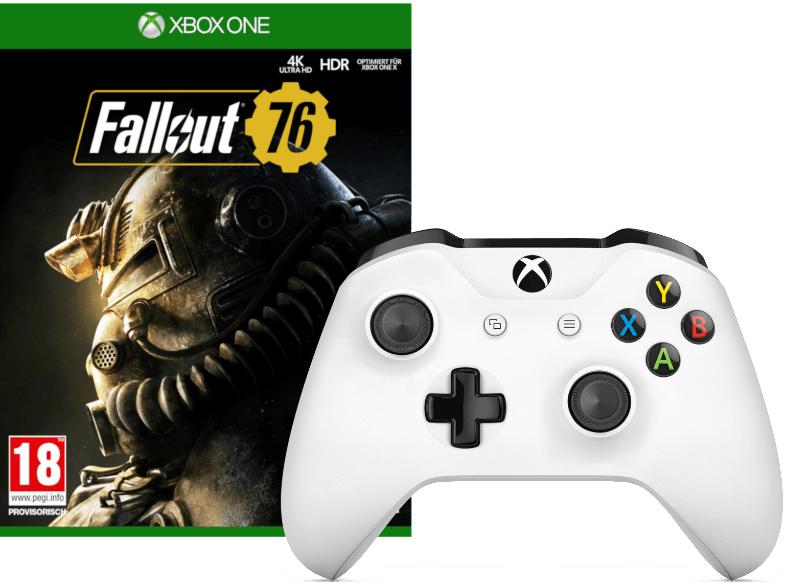 Xbox Wireless Controller weiß + Fallout 76 für 43€ inkl. Versand nach DE (MediaMarkt AT)