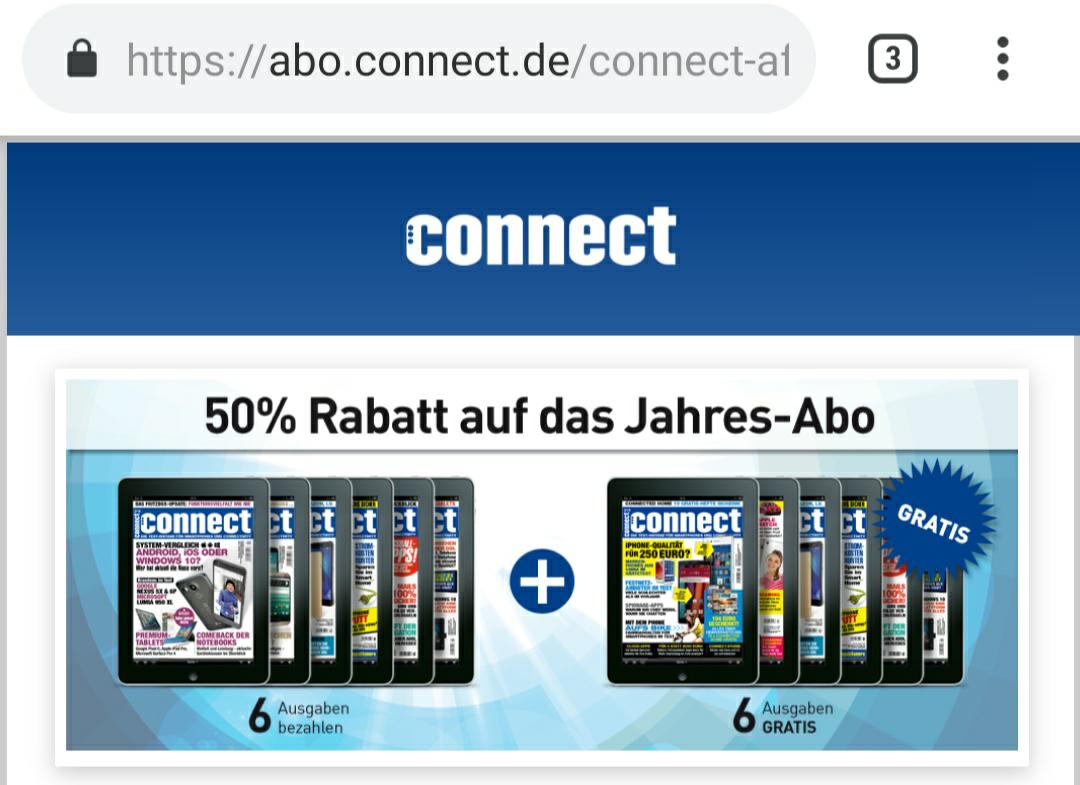 Zeitschrift connect - Digital-AboSpecial-Jahresabo Epaper