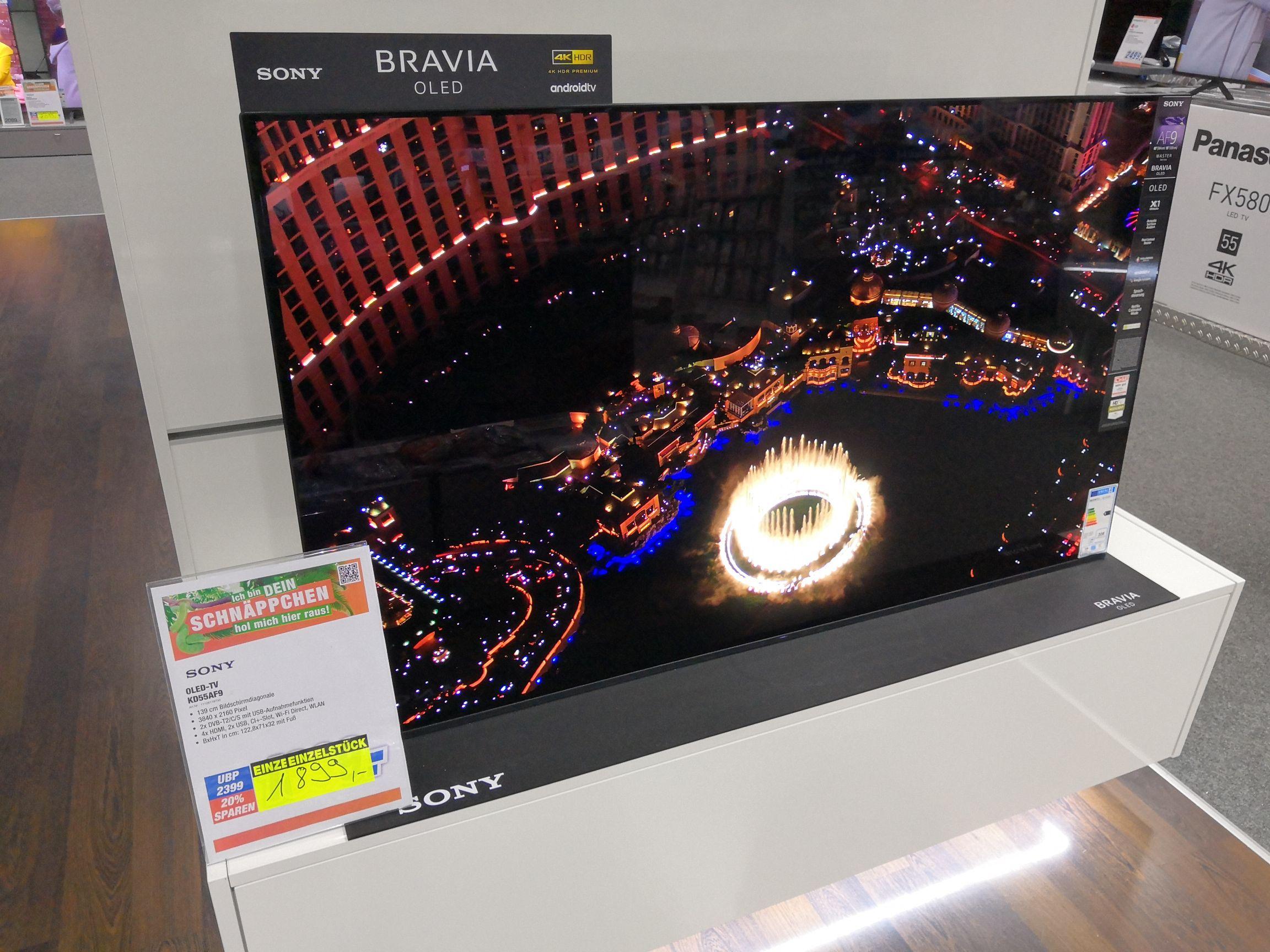 SONY KD-55AF9 OLED TV (Flat, 55 Zoll/139 cm, OLED 4K, SMART TV, Android TV
