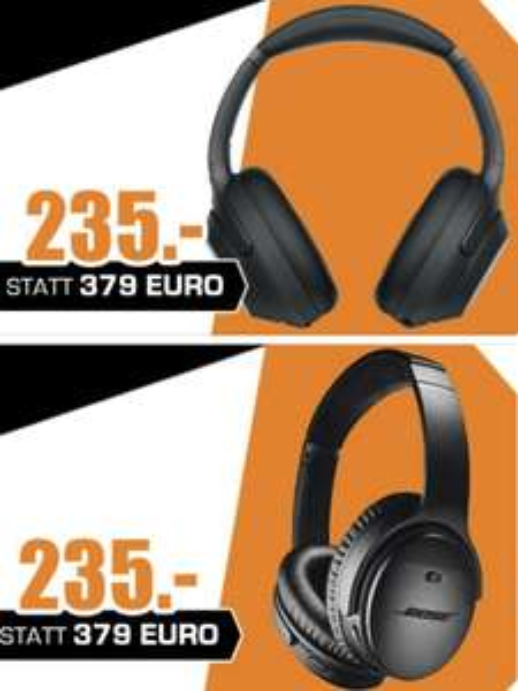 Lokal Saturn Bochum: Sony WH-1000XM3 oder Bose QuietComfort QC35 II je 235€ - Bose Soundbar 300 + Bass Modul 979€ - Versand evtl. möglich!