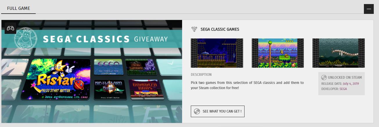 2 SEGA Klassiker kostenlos für Steam von Games2Gether: Ecco: The Tides of Time, Ristar, Fatal Labyrinth, Bonanza Bros., Bio-Hazard Battle