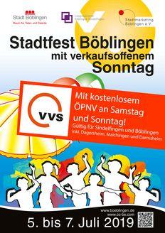 ÖPNV Freifahrten beim Böblinger Stadtfest (6. & 7. Juli 2019)