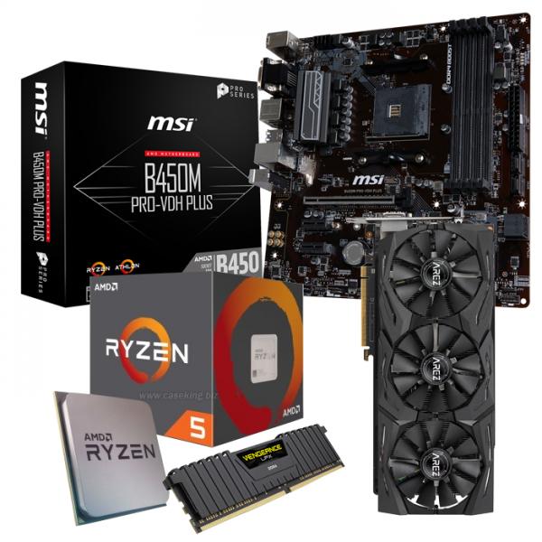 Aufrüst-Kit: MSI B450M Pro-VDH PLUS - Ryzen 5 2600 - 16 GB DDR4 - AMD RX Vega 56 (konfigurierbar) [Ebay mit Gutschein für 500 Euro]